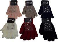 1 paire de gant perles et strass, femme, taille unique, 6 coloris