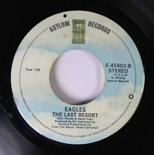 Rock 45 Eagles - Life In The Fast Lane / The Last Resort On Asylum Records