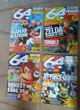 X4 NINTENDO 64  MAGAZINES AND CHEAT BOOKs