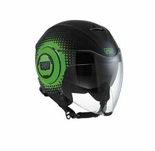 CASCO DEMI-JET AGV FLUID MULTI - PIX BLACK/GREEN TAGLIA L