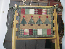 Country Woods Chairback Quilt Pattern Creative Scrap Quilting w/templates Trees