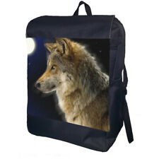 Wolf Backpack School Bag Travel Daypack Personalised Backpack