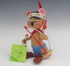 1987 ANNALEE MOBILITEE DOLLS INDIAN WARRIOR MOUSE NATIVE AMERICAN COLLECTION