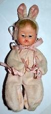 """Vintage American Character 1964 Teenie Weenie Tiny Tears 8"""" Doll, Rooted Hair"""