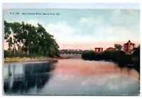 Early 1900s San Lorenzo River, Santa Cruz, CA Postcard