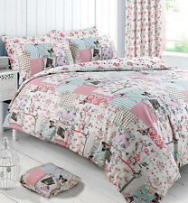 Floral Patchwork Birds Birdcage Butterfly Boutique Double Bed Duvet Cover Set
