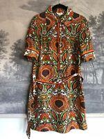 1970\u2019s Paisley Shirtwaist Dress