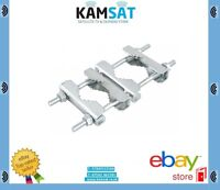 Satelitte Heavy Duty Jaw Clamp Connection Aerial Pole Mast Steel Outdoor U-Bolt