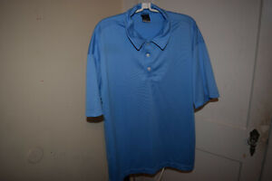 Nike Golf  Mens Polo Blue Shirt Size XXL Embroidered Spec Mix Swoosh Logo