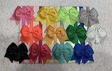 12Pcs Baby Infant Toddler Girls Elastic Headband 3.5� Dovetail Ribbon cheer Bow~