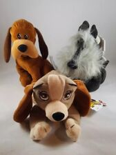 """Disney Mouseketoys Beanbag Plush Lady, Trusty, Jock from Lady and the Tramp 8"""""""