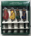 ⛳ NEW IN BOX Boston Warehouse Golf Bags Cheese Spreaders Set 4 Stainless Steel
