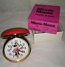 Disney Minnie Mouse Bradley Clam shell alarm clock mint unused original box