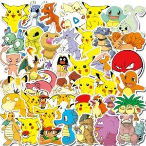 50Pcs Pikachu Cute Stickers Vinyls Decals Lot
