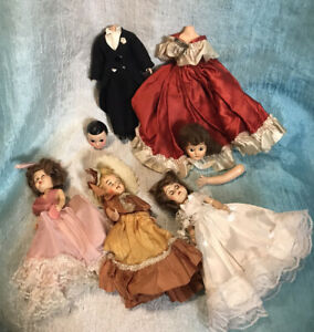 Vintage Lot of Old Dolls Open Close Eyes Pose able Halloween Creepy Headless
