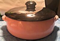 Vintage McCoy 50's Pink and Black Covered Casserole