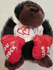DanDee Plush 9 Monkey Black/Brown Gorilla Ape Red Boxing Gloves Hearts Valentine