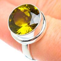 Lemon Quartz 925 Sterling Silver Ring Size 8 Ana Co Jewelry R52524F