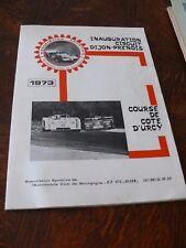 COURSE f1 livret inauguration circuit dijon prenois 1973 course urcy original
