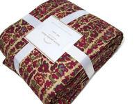 Pottery Barn Larson Paisley Linen Cotton Full Queen Duvet Cover 2 Euro Shams New