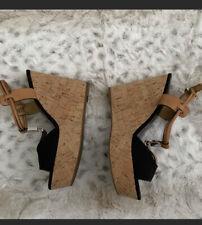 Coach Platform Wedge Heels Sandals Shoes Linden 7.5