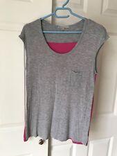 Gap Women's Xs Pink & Gray Colorblock Sleeveless Shirt T-Shirt Top
