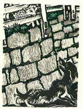 Das MUTIGE LAMM  - Ludwig Heinrich JUNGNICKEL - Original FarbLithographie 1919