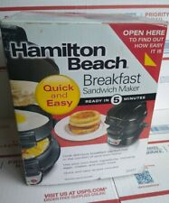 Hamilton Beach Breakfast Sandwich Maker Kitchen - 25475 New In Box!