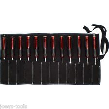 12 Pocket leather tool roll Pouch bag storage 300 x 500mm chisel spanner drivers