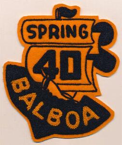 Balboa High School Buccaneers _RARE_ ORIGINAL 1940 vtg Chenille Patch California