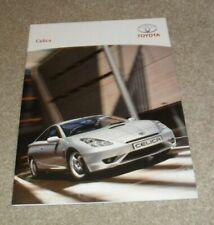 Toyota Celica Car Brochures