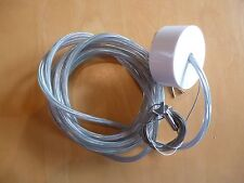 Adjustable Steel Wire Suspension With 3 Core Cable & White Rose 4m Long