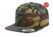 Yupoong Camo Classic Snapback Hat Adjustable Blank Plain CAMO Cap OSFA Limited