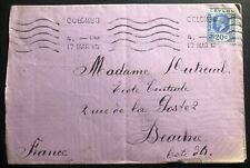 1930 Colombo Ceylon cover To Beaune France
