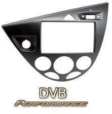 Ford Focus Mk1 98-05 Mano Izquierda Disco Doble Din Stereo Facia Kit de Adaptador Negro