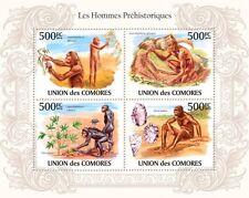 Prehistoric human Australopithecus evolution Comores 2010 Mi. 2722-2725 Cm10105a