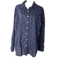 Crown & Ivy Womens Multi Color Button Down Shirt Long Sleeve Blouse Plus Size 3X