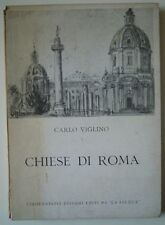 Churches of Rome-Carlo Viglino. the Felucca, Rome 1957. 20 PP text and 56 felt