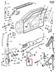 ( 1 ) GENUINE GM 20633148  RETAINER/CLIP - Front Side Door Lock Rod
