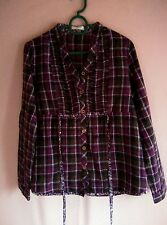 Nicole Checkered Purple Blouse