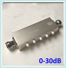 5W N Step Adjustable Variable Attenuator 5 key press N 0~30dB in 1dB Dc-2.5Ghz