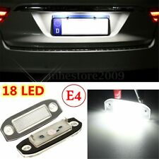 2x Car LED Licence Number Plate Light For Volvo S40 V50 XC60 XC70 XC90 E-marked