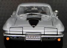 1967 corvette Chevy 1 deporte 18 Coche De Carreras 64 Vintage 24 Carousel PLATA