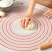 40x50cm Non Stick Silicone Dough Rolling Mat Baking Fondant Pastry Clay Pad
