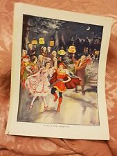 A Jolly New Year's Eve - Vintage Book Print