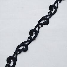 Guipure Lace Trim - Floral Wave  - Black - 20mm Wide - GLB12
