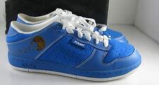 Reebok Zapatos RBK Get Bajo Deporte Cuero / ANTE BLANCO / Azul Cobalto