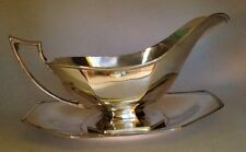 Homan Plate On Nickel Silver. Gravy Boat And Saucer. W.M. Mounts. Lovely