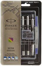 Parker Vector Standard Fountain Pen, Roller Ball Pen and Ball Pen