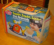 Vintage 1978 Romper Room Squirt the Animals Bath or Pool Toys by Hasbro in OB